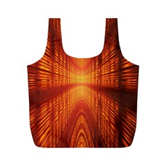 Abstract Wallpaper With Glowing Light Full Print Recycle Bags (m)  by Simbadda