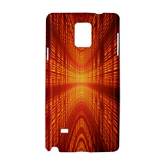 Abstract Wallpaper With Glowing Light Samsung Galaxy Note 4 Hardshell Case by Simbadda