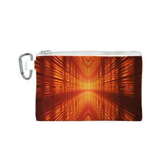 Abstract Wallpaper With Glowing Light Canvas Cosmetic Bag (s) by Simbadda