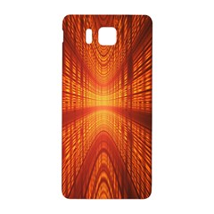 Abstract Wallpaper With Glowing Light Samsung Galaxy Alpha Hardshell Back Case by Simbadda