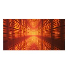Abstract Wallpaper With Glowing Light Satin Shawl by Simbadda