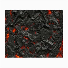 Volcanic Lava Background Effect Small Glasses Cloth by Simbadda