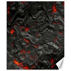Volcanic Lava Background Effect Canvas 8  X 10  by Simbadda