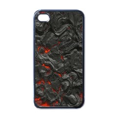 Volcanic Lava Background Effect Apple Iphone 4 Case (black) by Simbadda