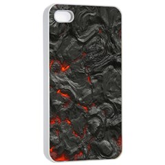 Volcanic Lava Background Effect Apple Iphone 4/4s Seamless Case (white) by Simbadda