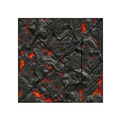 Volcanic Lava Background Effect Acrylic Tangram Puzzle (4  X 4 ) by Simbadda