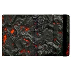 Volcanic Lava Background Effect Apple Ipad 2 Flip Case by Simbadda