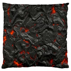 Volcanic Lava Background Effect Large Flano Cushion Case (two Sides) by Simbadda