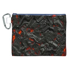 Volcanic Lava Background Effect Canvas Cosmetic Bag (xxl) by Simbadda