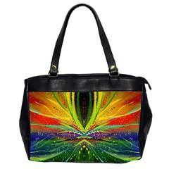 Future Abstract Desktop Wallpaper Office Handbags (2 Sides)  by Simbadda