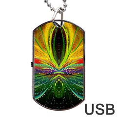 Future Abstract Desktop Wallpaper Dog Tag Usb Flash (one Side) by Simbadda