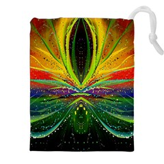 Future Abstract Desktop Wallpaper Drawstring Pouches (xxl) by Simbadda