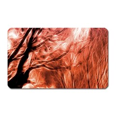Fire In The Forest Artistic Reproduction Of A Forest Photo Magnet (rectangular) by Simbadda