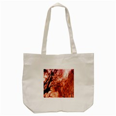 Fire In The Forest Artistic Reproduction Of A Forest Photo Tote Bag (cream) by Simbadda