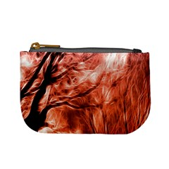 Fire In The Forest Artistic Reproduction Of A Forest Photo Mini Coin Purses by Simbadda