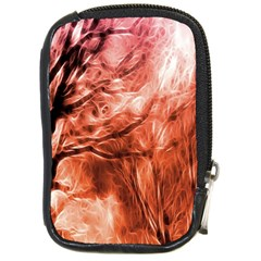 Fire In The Forest Artistic Reproduction Of A Forest Photo Compact Camera Cases by Simbadda