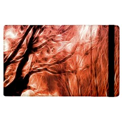 Fire In The Forest Artistic Reproduction Of A Forest Photo Apple Ipad 2 Flip Case by Simbadda