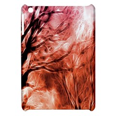 Fire In The Forest Artistic Reproduction Of A Forest Photo Apple Ipad Mini Hardshell Case by Simbadda