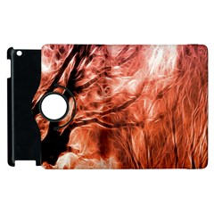 Fire In The Forest Artistic Reproduction Of A Forest Photo Apple Ipad 3/4 Flip 360 Case by Simbadda