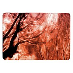 Fire In The Forest Artistic Reproduction Of A Forest Photo Samsung Galaxy Tab 8 9  P7300 Flip Case by Simbadda