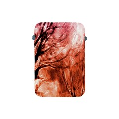 Fire In The Forest Artistic Reproduction Of A Forest Photo Apple Ipad Mini Protective Soft Cases by Simbadda