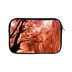 Fire In The Forest Artistic Reproduction Of A Forest Photo Apple Ipad Mini Zipper Cases by Simbadda