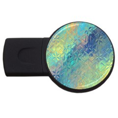 Colorful Patterned Glass Texture Background Usb Flash Drive Round (2 Gb) by Simbadda