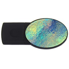Colorful Patterned Glass Texture Background Usb Flash Drive Oval (2 Gb) by Simbadda