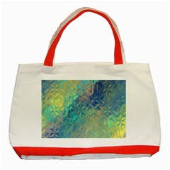Colorful Patterned Glass Texture Background Classic Tote Bag (red) by Simbadda