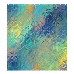 Colorful Patterned Glass Texture Background Shower Curtain 66  X 72  (large)  by Simbadda