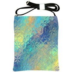 Colorful Patterned Glass Texture Background Shoulder Sling Bags by Simbadda