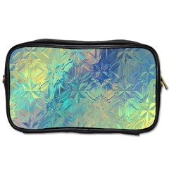 Colorful Patterned Glass Texture Background Toiletries Bags 2 Side by Simbadda