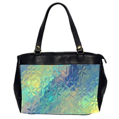 Colorful Patterned Glass Texture Background Office Handbags (2 Sides)  by Simbadda