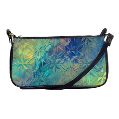 Colorful Patterned Glass Texture Background Shoulder Clutch Bags by Simbadda
