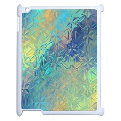 Colorful Patterned Glass Texture Background Apple Ipad 2 Case (white) by Simbadda