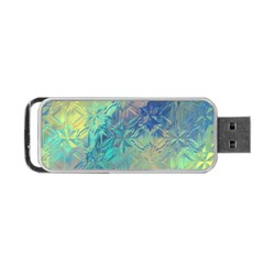 Colorful Patterned Glass Texture Background Portable Usb Flash (one Side) by Simbadda