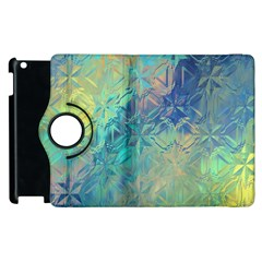 Colorful Patterned Glass Texture Background Apple Ipad 3/4 Flip 360 Case by Simbadda