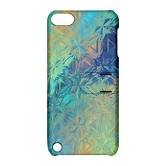 Colorful Patterned Glass Texture Background Apple Ipod Touch 5 Hardshell Case With Stand by Simbadda