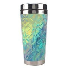 Colorful Patterned Glass Texture Background Stainless Steel Travel Tumblers by Simbadda