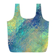 Colorful Patterned Glass Texture Background Full Print Recycle Bags (l)  by Simbadda