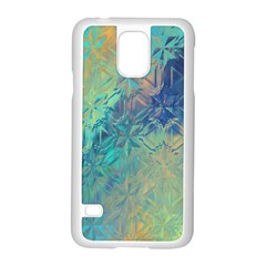 Colorful Patterned Glass Texture Background Samsung Galaxy S5 Case (white) by Simbadda