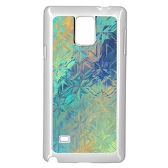 Colorful Patterned Glass Texture Background Samsung Galaxy Note 4 Case (white) by Simbadda