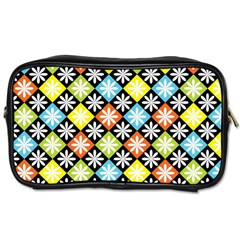 Diamond Argyle Pattern Colorful Diamonds On Argyle Style Toiletries Bags by Simbadda