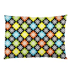 Diamond Argyle Pattern Colorful Diamonds On Argyle Style Pillow Case (two Sides) by Simbadda