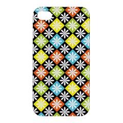 Diamond Argyle Pattern Colorful Diamonds On Argyle Style Apple Iphone 4/4s Hardshell Case by Simbadda
