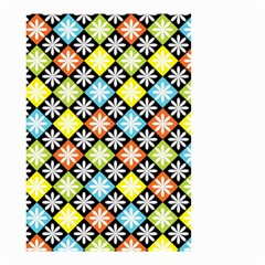 Diamond Argyle Pattern Colorful Diamonds On Argyle Style Small Garden Flag (two Sides) by Simbadda