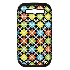 Diamond Argyle Pattern Colorful Diamonds On Argyle Style Samsung Galaxy S Iii Hardshell Case (pc+silicone) by Simbadda