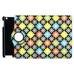 Diamond Argyle Pattern Colorful Diamonds On Argyle Style Apple Ipad 3/4 Flip 360 Case by Simbadda