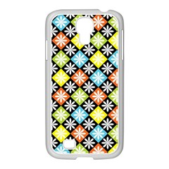 Diamond Argyle Pattern Colorful Diamonds On Argyle Style Samsung Galaxy S4 I9500/ I9505 Case (white) by Simbadda