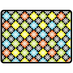 Diamond Argyle Pattern Colorful Diamonds On Argyle Style Double Sided Fleece Blanket (large)  by Simbadda